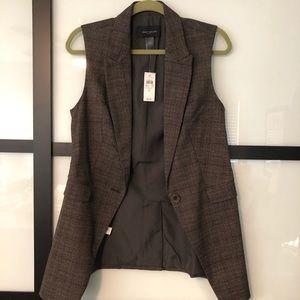 Ann Taylor tweed suit vest